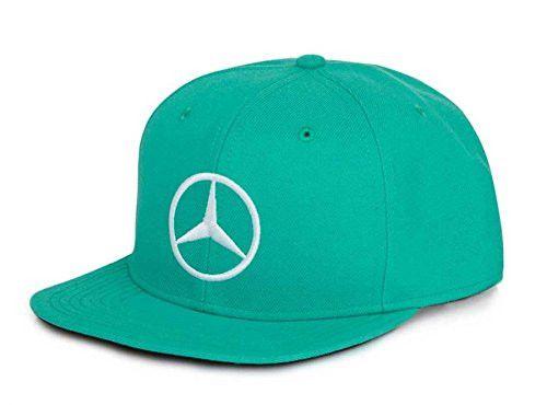 Lewis Hamilton Mercedes AMG Malaysian GP Hat The classic is back! The 2016 Lewis Hamilton Malaysia Grand Prix Cap is now availabe for purchase. Green flat brim cap, black underneath brim, snapback clo