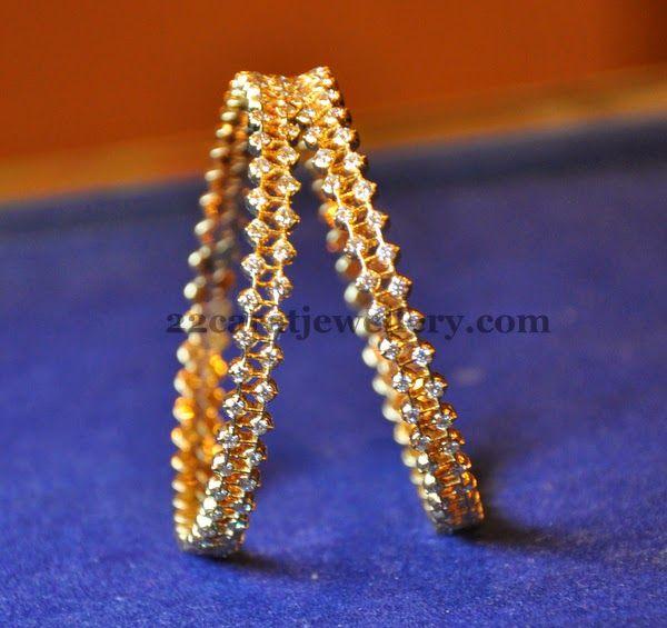 Jewellery Designs: Rosecut Diamond Bangles Gallery