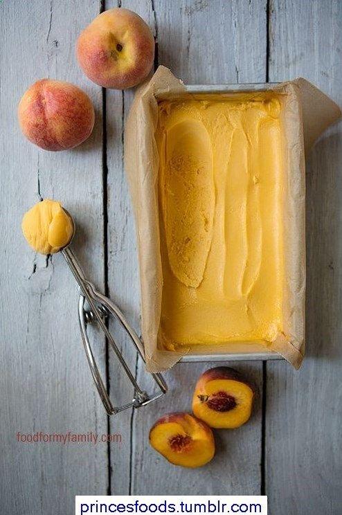Peach Sorbet from http://@Shaina Pagani Pagani Pagani Pagani Pagani Olmanson   Food for My Family #AggiesBaby
