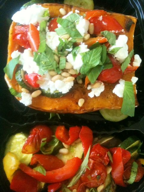 Squash Stuffed with Mediterranean Vegetables and Goats Cheese ...