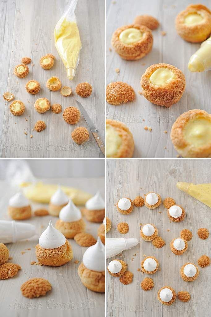 Choux citron meringue
