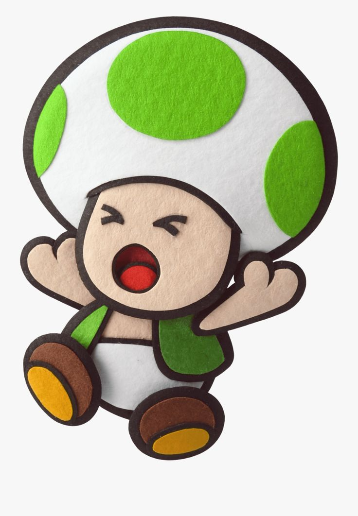 Green Toad in 2020 Paper mario sticker star, Paper mario