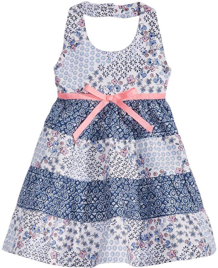 626946f6 Blueberi Boulevard Baby Girls Tiered Ruffle Cotton Dress | stuff for ...