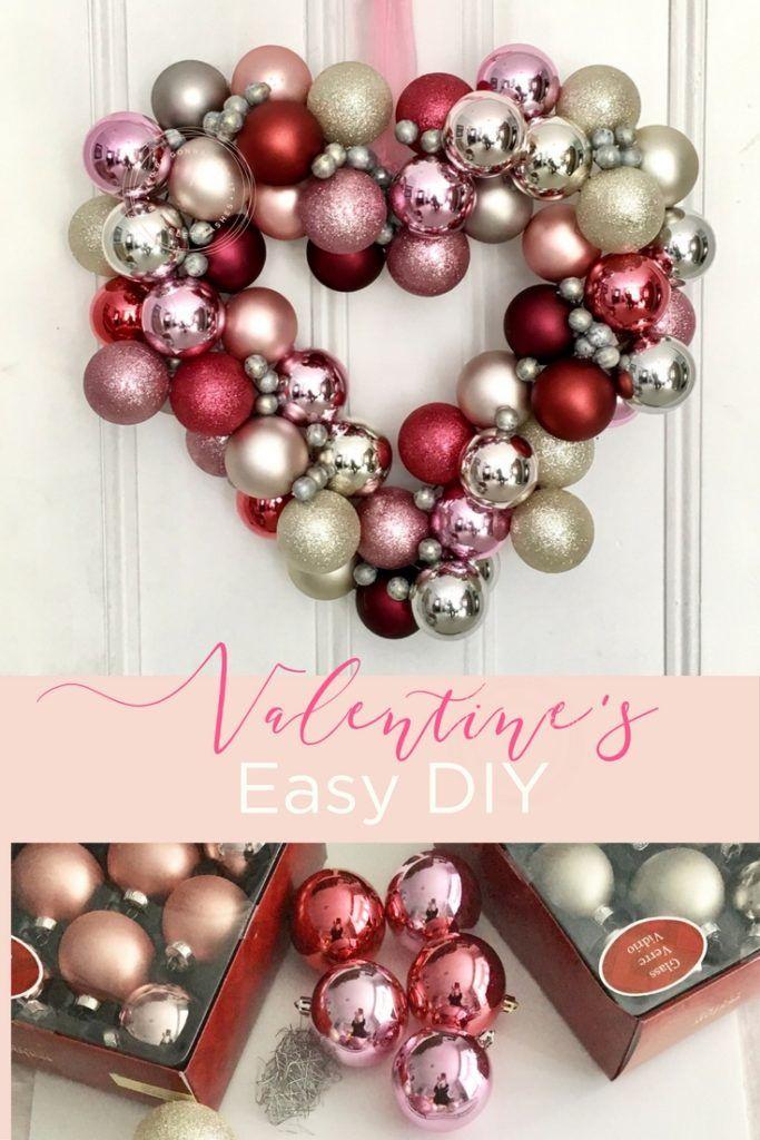 Easy DIY Valentineu0027s Day Wreath