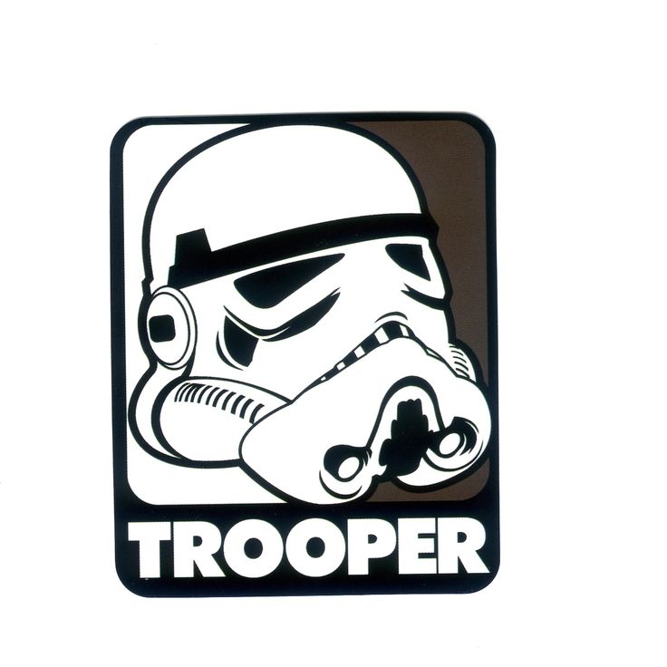 1138 star wars stormtrooper pop art height 8 cm decal sticker
