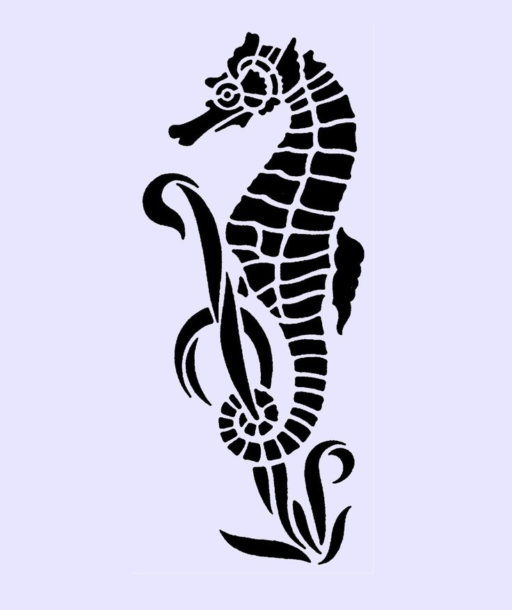 14 best images about Seahorse and Mermaid stencils on ...