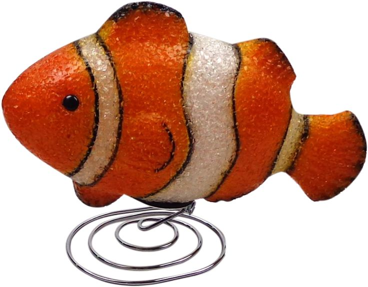 Nemo Fish Night Light Prev Stop Play Next This charming orange & white Nemo Fish Lamp is a great way to add fun, character and comfort to a child's bedroom. The soft 6 watt bulb emits a gentle light, creating a soothing bedtime atmosphere. Made from flexible EVA material on an attractive chrome wire base. Includes a power adaptor, bulb, instructions and comes packaged in a clear display box. Safety Note This is an electrical product, not a toy! Please follow safety instructions & do not…