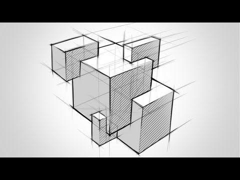 Dibuja intersecciones entre prismas rectangulares - YouTube