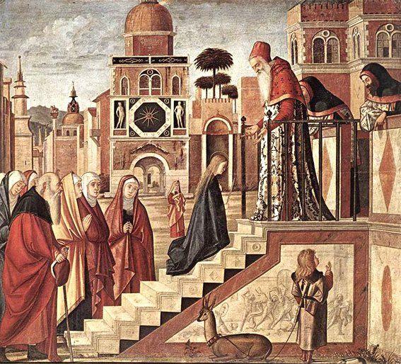 Presentacion de la Virgen en el Templo de Scarpazza - (Vittore Carpaccio)