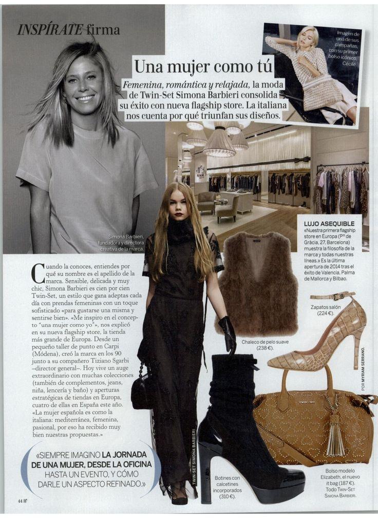 TWIN-SET Simona Barbieri. Magazine: Woman Spain 01.12.2014