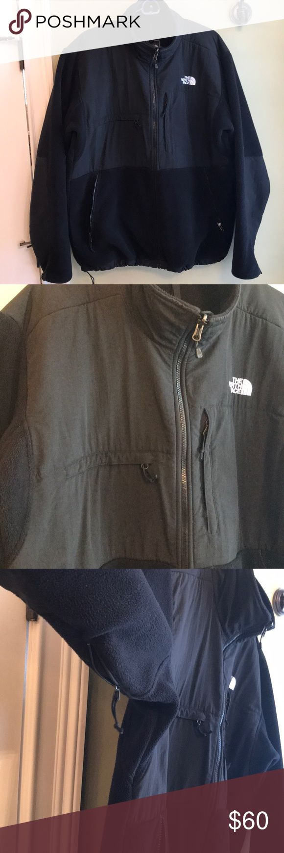 Black North Face coat Breathable The North Face Coat. Draw strings on waist for tighter fight, 4 big zipper secured pockets, water resistant shoulders and under arm zippers for heat release. Polartec recycled collaboration. Jackets & Coats Performance Jackets