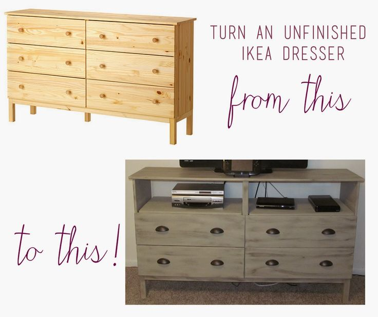 For this tutorial you will need.       -A dresser. We purchased the TARVA  unfinished dresser from Ikea. If you choose to use a dress...