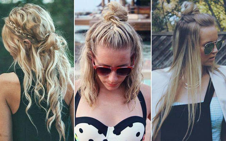 Half Bun é um coque que é tendência no mundo dos penteados modernos! Ele veio com tudo em 2015 e vai invadir o verão 2016!