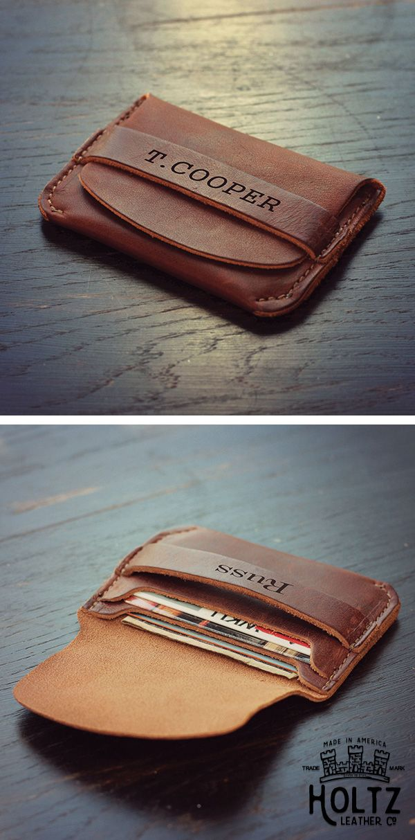 The Babe Front Pocket Wallet is the perfect gift for your groom on the big day! This wallet fits comfortably in the front pocket of men's jeans and holds 6 cards and cash comfortably. This is a gift he will use and love for a lifetime.