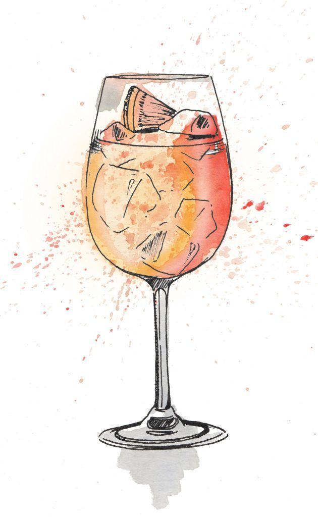 Aperol Spritz watercolour illustration. I love painting cocktails as watercolour and pen and ink works so well creating the glass and liquid. Commission your very own artwork by clicking the link.