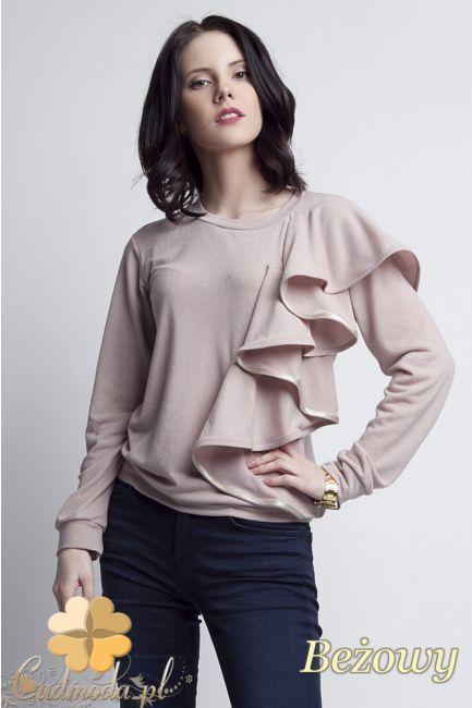 Lekko taliowana bluzka damska z ozdobnym żabotem marki Lanti.  #cudmoda #moda #styl #ubrania #odzież #clothes #bluzki