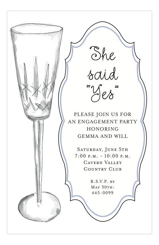 Crystal Bubbly Invitation