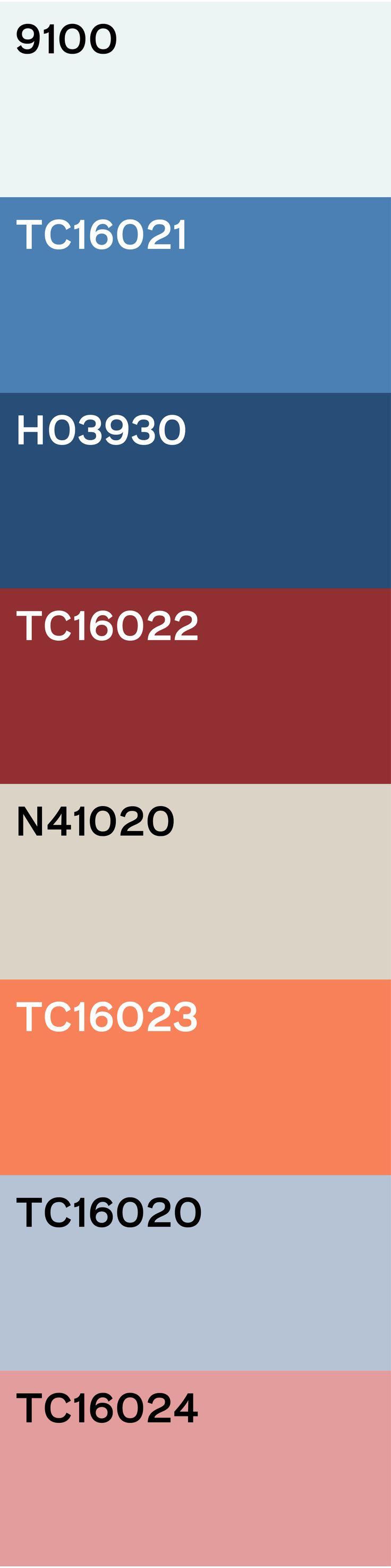 Traditie & Toekomst: Rood wit blauw in een modern jasje. Dit traditionele kleurenpalet krijgt een zeer stoere uitstraling met de metalen blauwe achtergrond in combinatie met de industriële accessoires en denim stoelbekleding. De toekomst komt naar voren in de rood-wit print op het kussen en in het grafische spel van het doorgestikte leer van de fauteuil. Het karpet zorgt voor samenspraak tussen de kleuren.