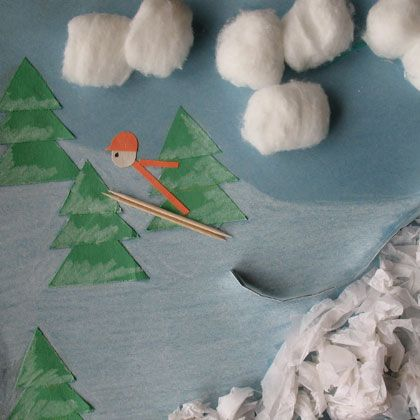 Winter olympic theme Ski Jump 3-D Art | Crafts | Spoonful