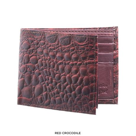 Men's Genuine Leather Embossed Bi-Fold Wallet - Assorted Styles at 55% Savings off Retail!
