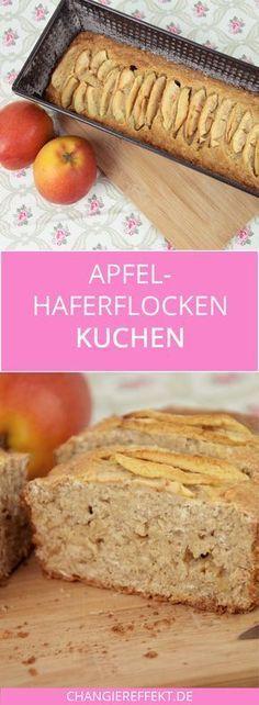 Apfel Haferflocken Kuchen – ein Rezept mit wenig Zucker