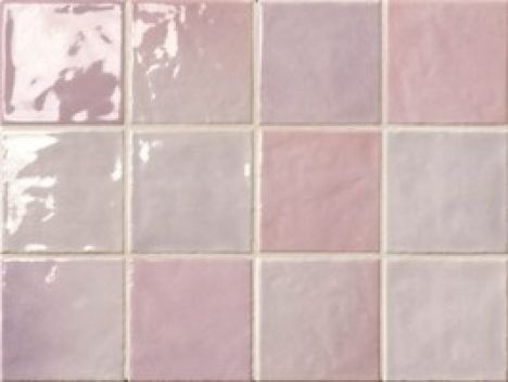 Dijon Lilla - Gorgeous lilac / pink kitchen wall tile with a ceramic and gloss finish.