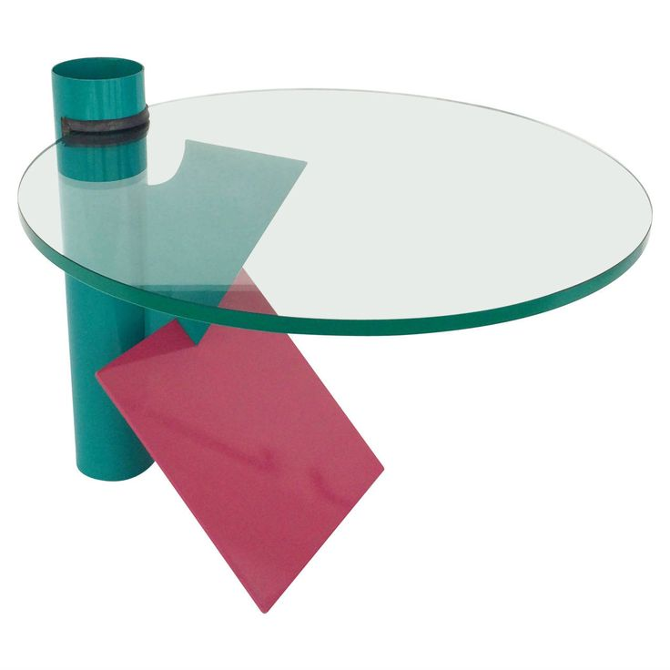 Beau Memphis Style Side Table, Circa 1980s