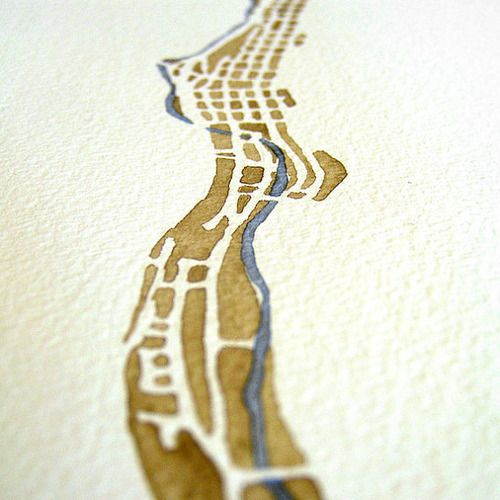 Watercolor map by SummitRidge. Starting to think watercolor maps are where it's at.