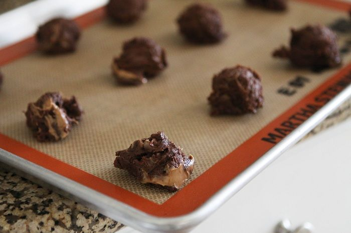 Chocolate Chunk Peanut Butter Swirl Fudgy Cookies