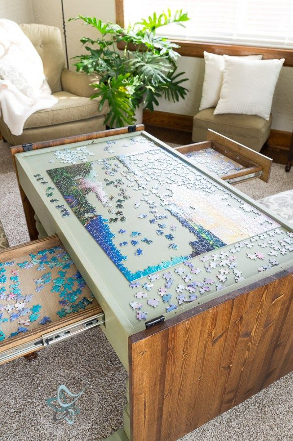 Diy Puzzle Game Table Home Diy Puzzle Table Home Decor