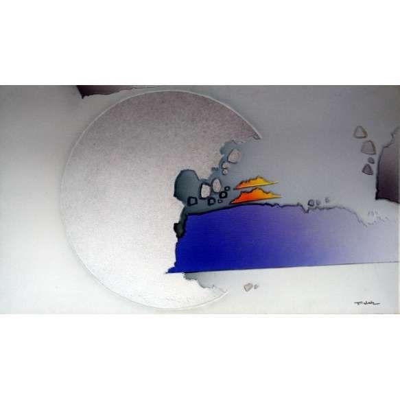 Fukuda - Técnica Mista sobre tela - Medidas 70 x 120 cm - Assinatura no canto inferior direito