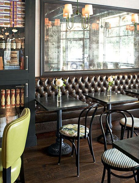 Little cafe tucked in reids fine foods interior design by