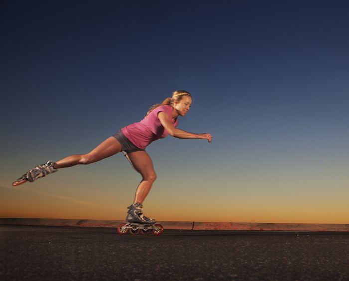 rollerblading - At sunset...