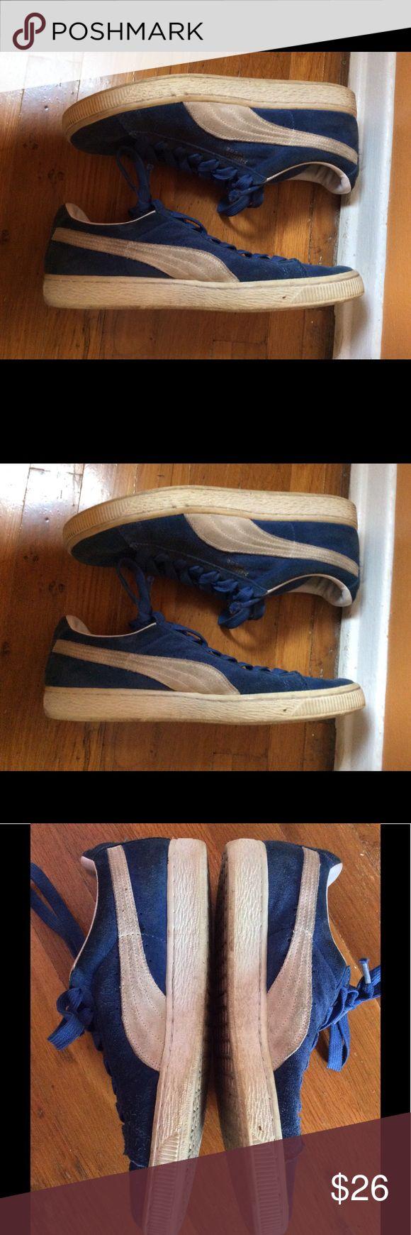 Blue Puma Suede Classics Mens size 9 Puma Shoes Sneakers