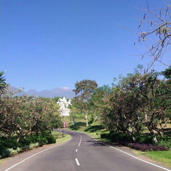 Entrance of taman dayu residence east java indonesia with mt.arjuna and mt.welirang view