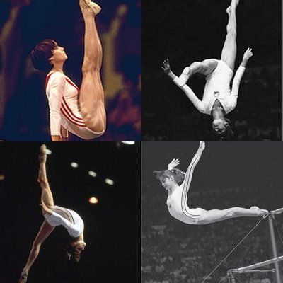 Nadia Comaneci - perfection Loved her as a kid. She was one of the few gymnasts who I idolized.