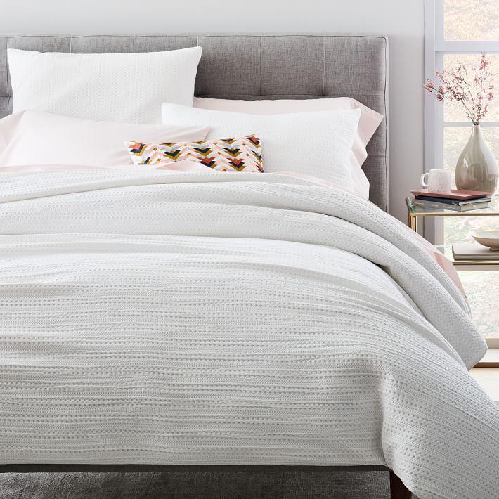Organic Textured Waffle Duvet Cover Shams Bed Linens Luxury Luxury Bedding Duvet Bedding