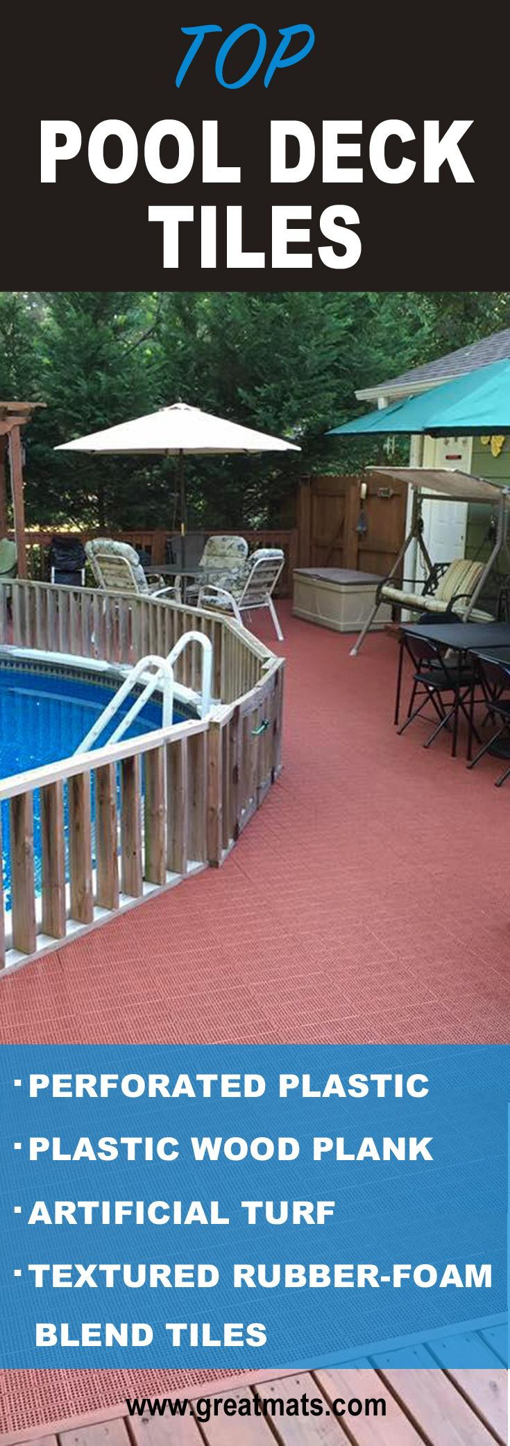 10 best pool deck tiles and mats images on pinterest
