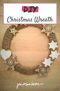 DIY EASY CHRISTMAS WREATH - RUSTIC FARMHOUSE STYLE - packmahome