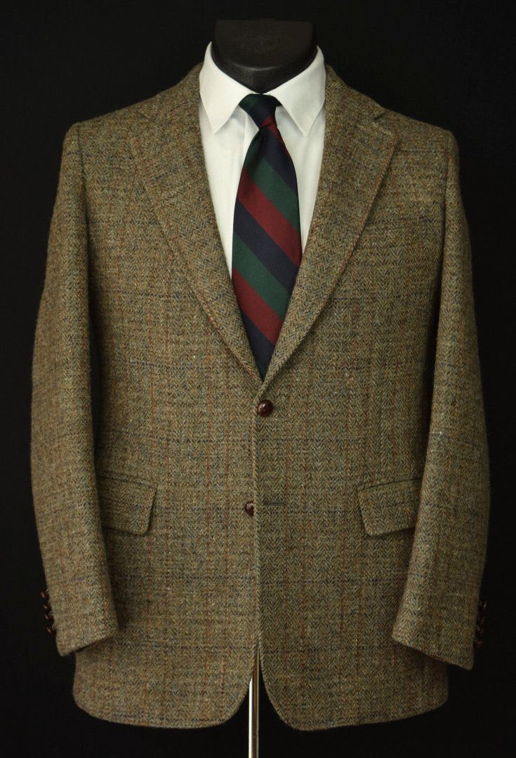 Vintage two-button Cricketeer Harris Tweed jacket.