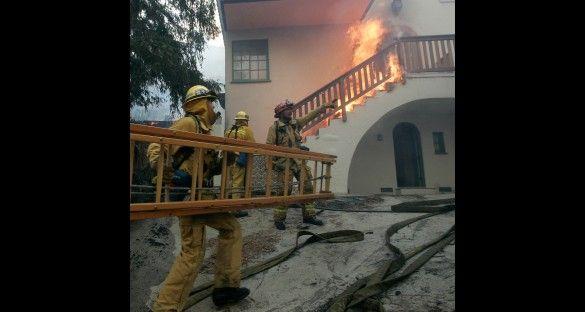 Mansiones de celebrities arrasadas por las llamas