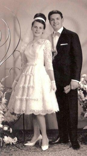 1960,s' newlyweds 60s wedding dress short lace full skirt