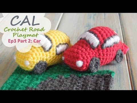 Happy Berry Crochet: CAL Crochet Road Play Mat - Tutorial 3: Curved Road & Car