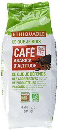 Ethiquable Café Grains Pérou Équitable & Bio 1 kg Paysans Producteurs: Café Pérou équitable & bio Arabica moulu de haute altitude, fin et…