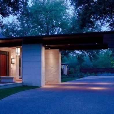 11 best covered driveways images on pinterest driveways for Contemporary carport design architecture