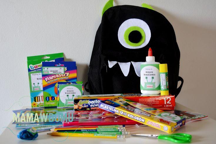 naklejki szkolne z potworami do pobrania i drukowania #szkoła #diy #naklejki