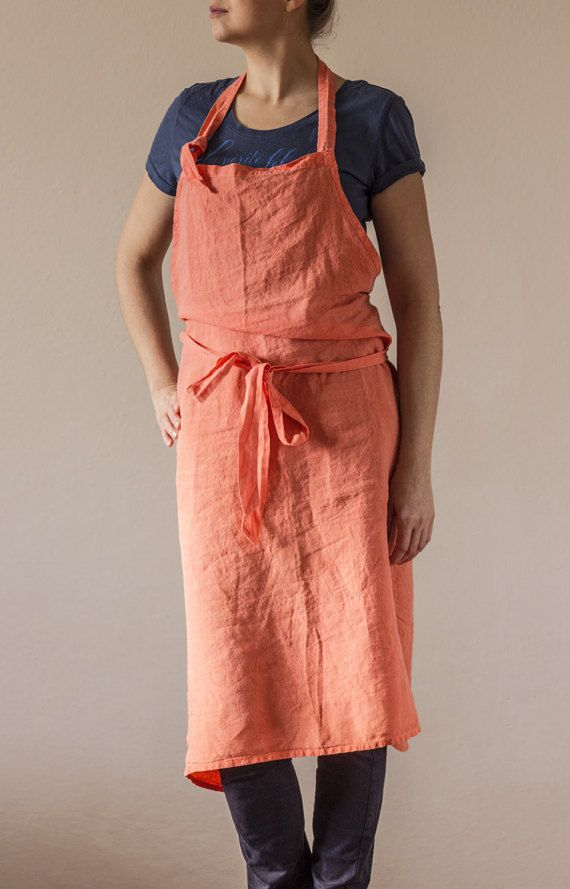 Pure linen apron. Garment dyed. First class by vydravolkmer