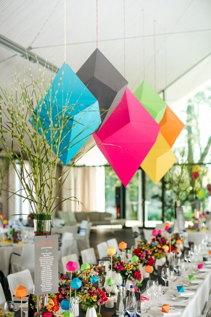 COLORFUL GEOMETRIC FLAMINGO WEDDING | Bespoke-Bride: Wedding Blog