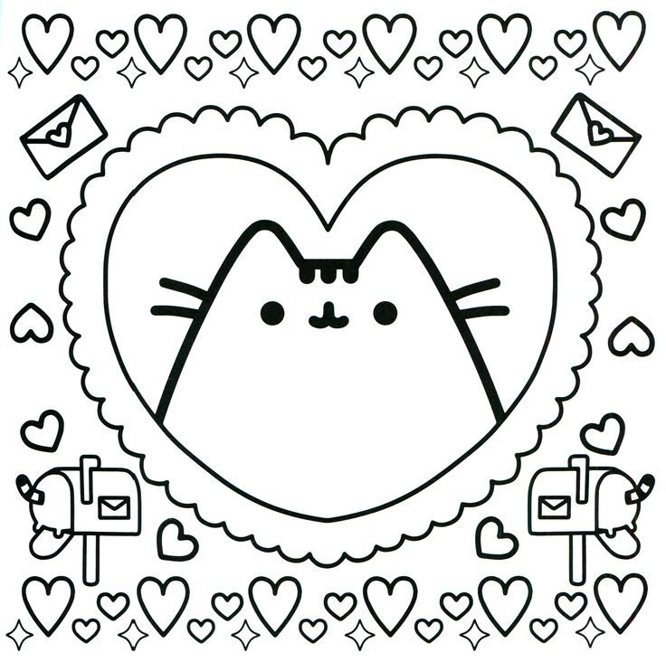 94 best Pusheen Coloring Book images on Pinterest
