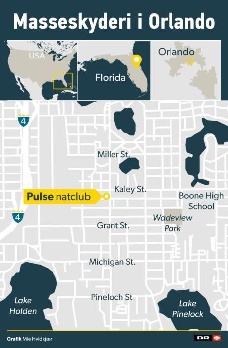 OVERBLIK Det ved vi om masseskyderiet på natklub i Orlando | Nyheder | DR